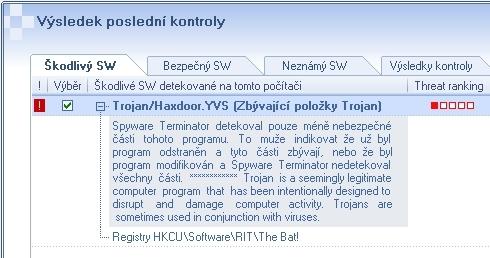 Mylná detekce programekm Spyware Terminator